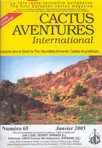 Cactus Aventures International 2005   - les 4 num�ros